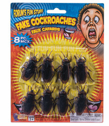Fake Cockroaches Pack of 8 pc