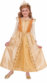 Princess Regal Shimmer Girl's Yellow Dress