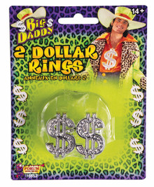 Big Daddy 2 Dollar Rings Silver PK (2)