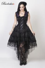 Ophelie Purple King Brocade Dress