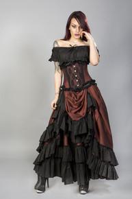 Carnation Vintage Brass Taffeta Black Frill Skirt