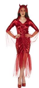 Red Devil Bride Adult Costume