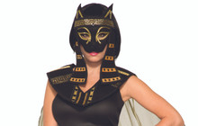 Bastet Mask Frontal with String Tie Egyptian Mardi Gras Mask