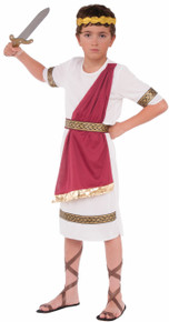 Caesar Kids Costume Tunic with attached Drape, Belt, and Headband