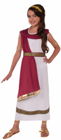 Greek Goddess Kids Costume Tunic with attached Drape, Belt, and Headband