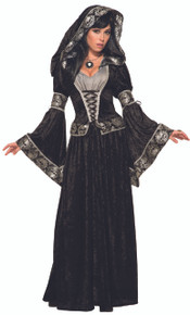 Dark Sorceress Hooded Dress Witches & Wizards Series