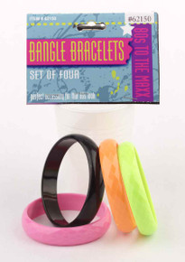 Bangle Bracelets 4 Assorted Colors Set