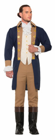 Colonial Officer Adult Costume 5pc