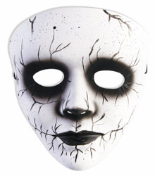 Banshee Mask Frontal Only White with Black