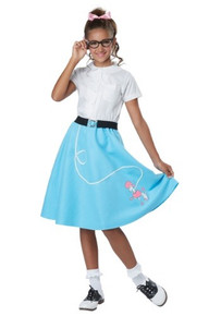 50's Poodle Skirt Blue Kid's