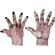 Evil Hands Light Grey with purple Zombie Gloves