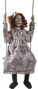 Swinging Decrepit Doll Animated Prop
