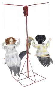 Ghostly Go Round (3) Dolls Prop Animated Decor