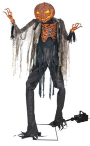Scorched Scarecrow and Fog Machine Prop Life-sized Animated Decor