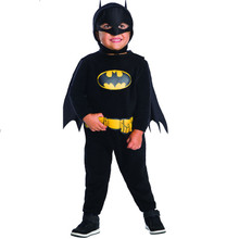 Batman Romper Black and Yellow with Removable Cape