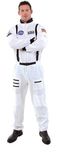 Astronaut Mens Plus Size Jumpsuit with Embroidered NASA Patches