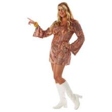 Disco Dolly Plus Size 60's Headband & Dress