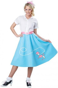 50's Poodle Skirt Adult Blue