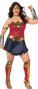 Justice League Licensed Wonder Woman Adult Deluxe Plus Size Costume