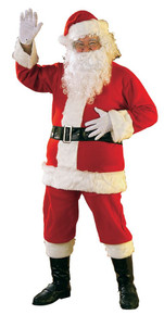 Santa Suit Flannel Lightweight 6pc 40 - 48 Jacket Size