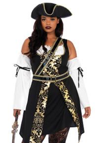 Black Sea Buccaneer Women's Pirate 4pc Costume