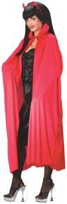 """Cape 45"""" Long with Small Collar - Red"""
