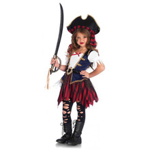 Caribbean Pirate Girl's Dress & Hat (C49104)