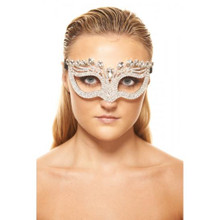 Crystal Eye Mask with Clear Crystals