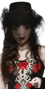 Heart of Darkness Top Hat with Black Veil