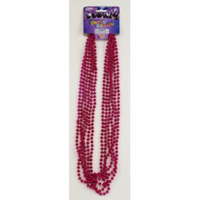 "Beads 33"" Pink Metallic Beads Set of (6)"