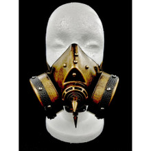 Gas Mask with two breathers and Spikes down the Middle
