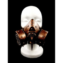Gas Mask with two breathers Spikes down the Middle