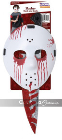 Slasher Hockey Mask & Knife Set