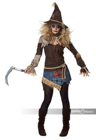 Creepy Scarecrow Adult Women's Costume