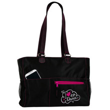 Abby Tote Bag Black & Pink