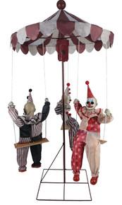 Clown Go Round (3) Clowns Animated Prop Decor