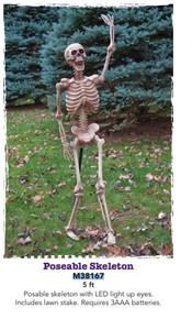 Light Up Lawn Stake Skeleton Prop