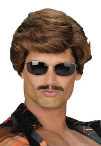 70's Leading Man Wig Police Wig Brown Hair