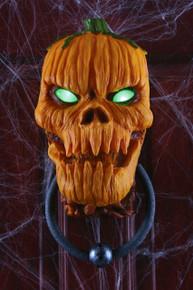 Animated Pumpkin Door Knocker Lights and Sound
