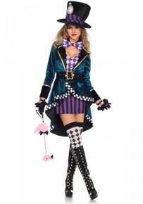 Delightful Hatter 5PC Women's Costume