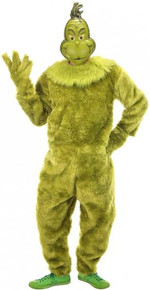 The Grinch Deluxe Jumpsuit Licensed Mens Costume with Mask S/M