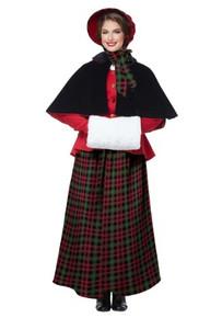 Holiday Caroler Woman Adult Costume