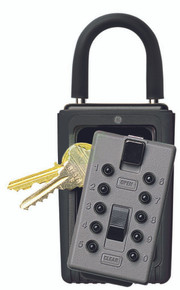 GE Supra AccessPoint Portable KeySafe Push Button Lock Box - Titanium Gray