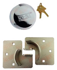 Hidden Shackle Lock (Puck Trailer Padlock) Hasp Combo