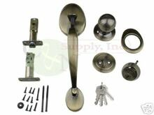 Keyed Alike Antique Brass Entry Door Handleset - New!!