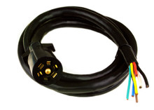 """7 Way RV Trailer Connector Cable w/ Plug 84"""" - New!!"""