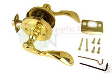 Santa Fe Polished Brass Privacy Lever Lock - Brand New