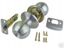 Satin Chrome Passage Door Knob - Brand New!!