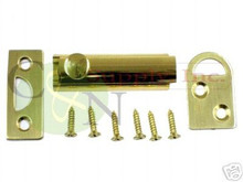 """Solid Brass 2"""" Surface Bolt - Brand New"""