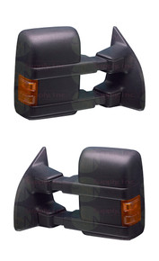 Tow Mirrors Ford Towing Side View Mirrors Power Heated Signal for 08-15 F250 F350 F450 Super Duty - Pair